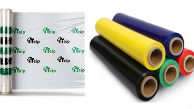 Colored and printed stretch film